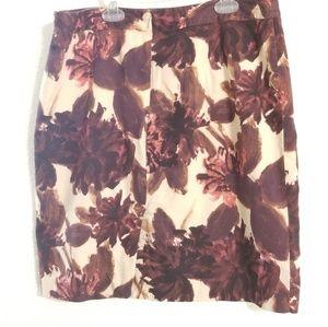 VanHeusen Studio Size 12 Red Tan Skirt